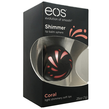 eos Shimmer Lip Balm Coral - 0.25 oz.