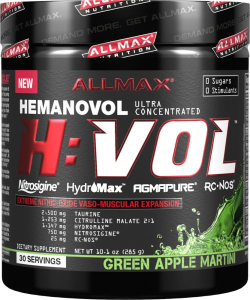 AllMax Nutrition H:VOL - 30 Servings Green Apple Martini