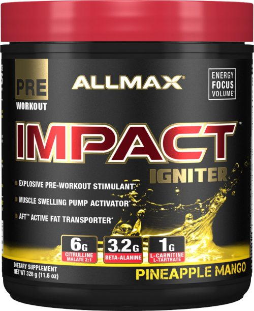AllMax Nutrition Impact Igniter - 328g Pineapple Mango