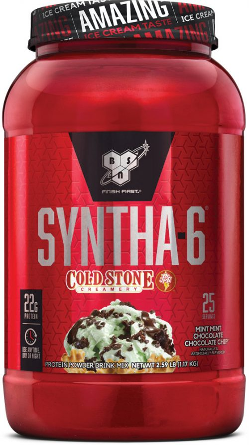BSN Syntha-6 - Cold Stone Creamery 2.59lbs Mint Mint Chocolate Chocola