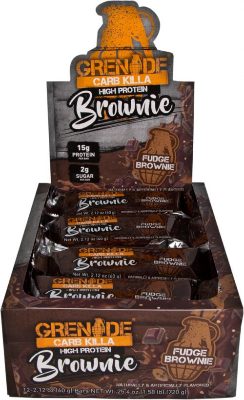 Grenade Carb Killa Brownie - Box of 12 Fudge Brownie
