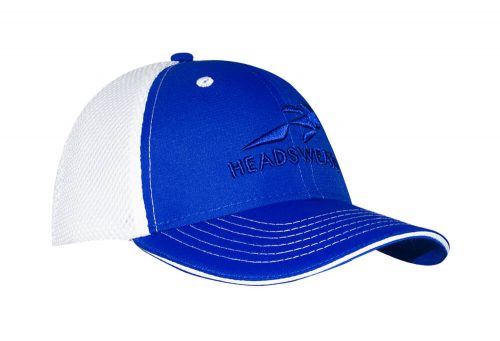 Headsweats Trucker Hat - white/royal with headsweats, one size