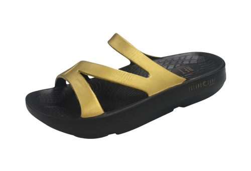 Island Surf Company Coral Sandals - Women's - black/gold, 8