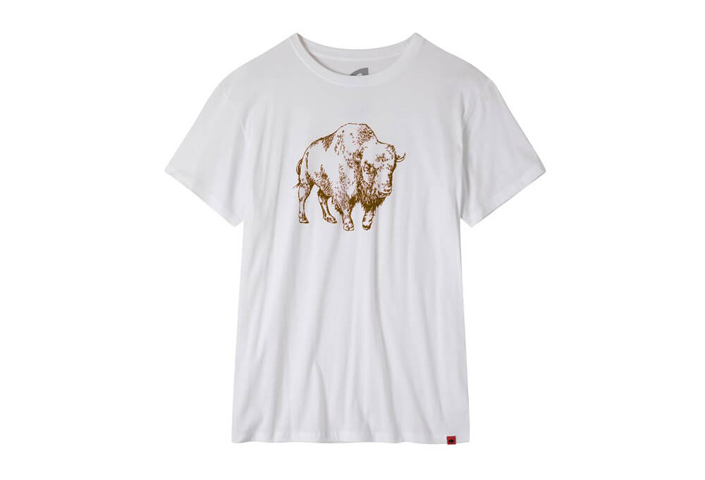 Mountain Khakis Bison Illustration T-Shirt - Men's - white/coffee, small