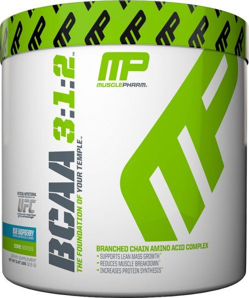 MusclePharm Essentials BCAA - BCAA 3:1:2 Powder - 30 Servings Blue Ras