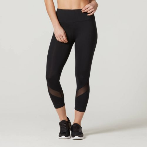 Myprotein Heartbeat Cropped Mesh Leggings - Black - XL