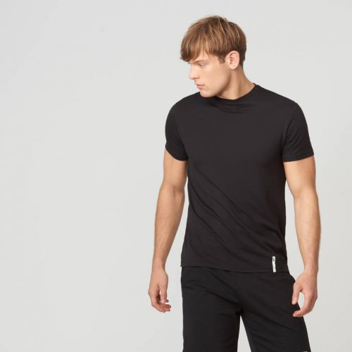 Myprotein Luxe Classic Crew T-Shirt - Black - XL