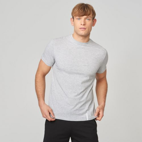 Myprotein Luxe Classic Crew T-Shirt - Grey Marl - S