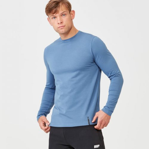 Myprotein Luxe Classic Long Sleeve Crew - Blue - XS