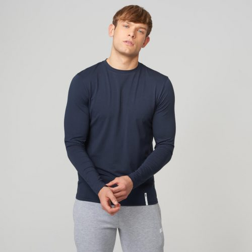 Myprotein Luxe Classic Long-Sleeve Crew T-Shirt - Navy - L