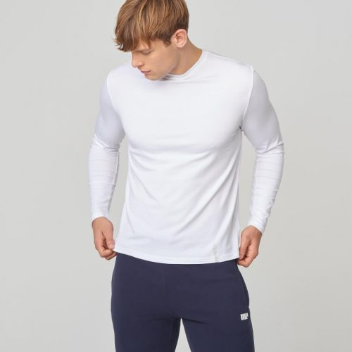 Myprotein Luxe Classic Long-Sleeve Crew T-Shirt - White - XL