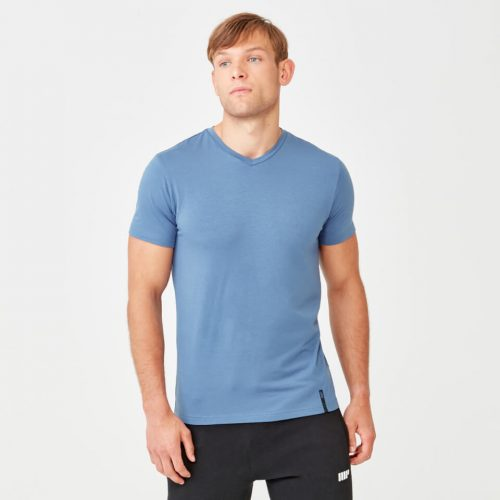 Myprotein Luxe Classic V-Neck - Blue - XXL