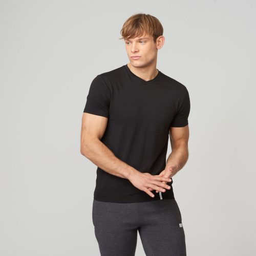 Myprotein Luxe Classic V-Neck T-Shirt - Black - XL