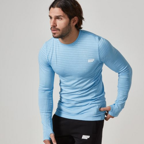 Myprotein Men's Seamless Long Sleeve T-Shirt - Blue, S