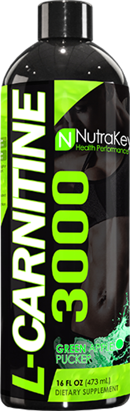 NutraKey L-Carnitine 3000 - 16oz Green Apple