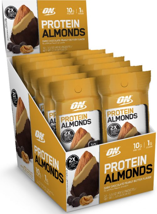 Optimum Nutrition Protein Almonds - 12 Pack Chocolate Peanut Butter