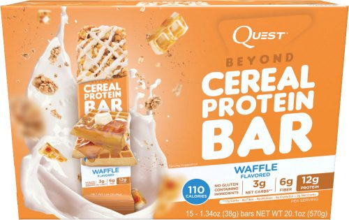 Quest Nutrition Beyond Cereal Bar - Box of 15 Waffle