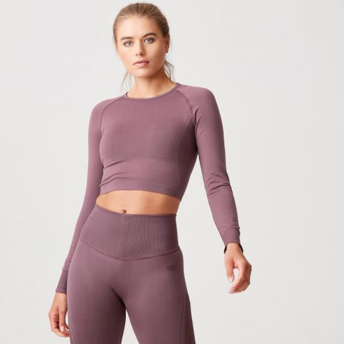 Shape Seamless Crop Top - Mauve - S