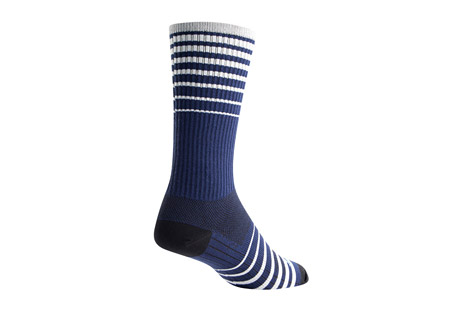 "Sock Guy Cascade 8"" Navy Crew Socks"
