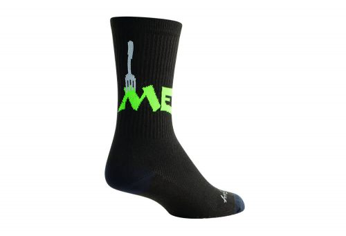 Sock Guy Done Crew Socks - black, s/m