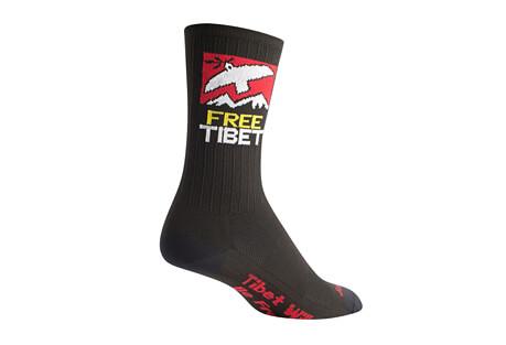 """Sock Guy SGX 6"""" Free Tibet Socks"""
