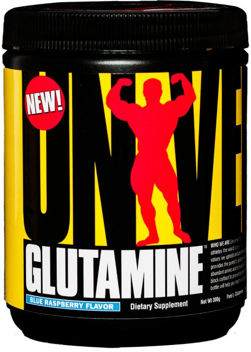 Universal Nutrition Glutamine Powder - 300g Blue Raspberry