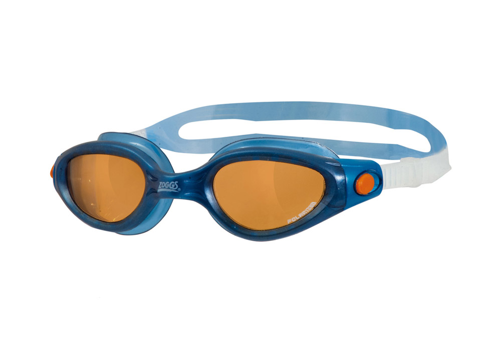 Zoggs Phantom Elite L/XL Polarized Goggles - blue/copper, one size