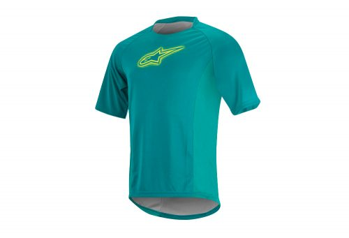 alpinestars Rover SS Jersey - Men's - teal/lime, large