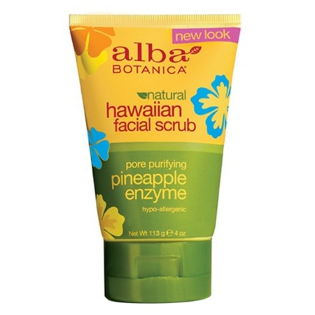 Alba Botanica Hawaiian Facial Scrub Pore Purifying Pineapple Enzyme - 4 oz.