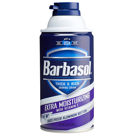Barbasol Thick & Rich Shaving Cream for Men Extra Moisturizing with Vitamin E - 10 oz.