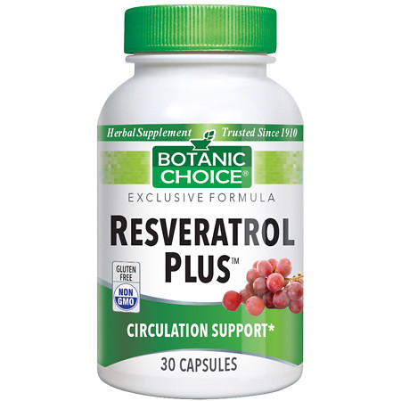 Botanic Choice Resveratrol Plus Dietary Supplement Capsules - 30 ea.