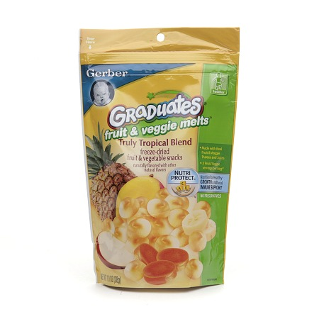 Gerber Graduates Fruit & Veggie Melts Truly Tropical Blend - 1 oz.