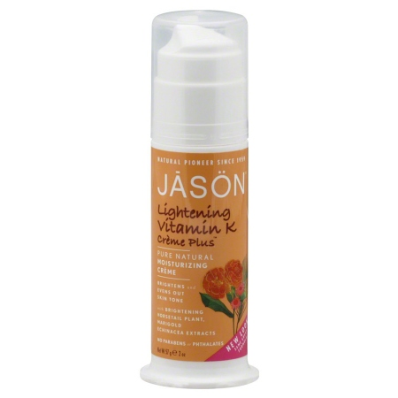 JASON Vitamin K Creme Plus for Intense Skin, Measured Dosage Pump - 2 oz.