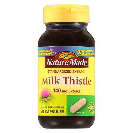 Nature Made Milk Thistle, 140 mg, Capsules - 50 ea
