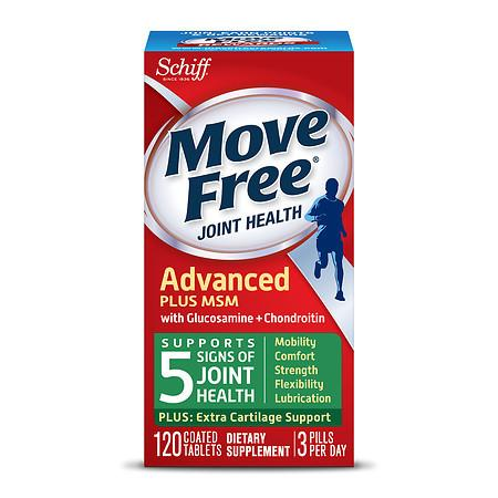 Schiff Move Free Bone & Joint Supplement, Glucosamine Chondroitin + MSM, Tablets - 120 ea