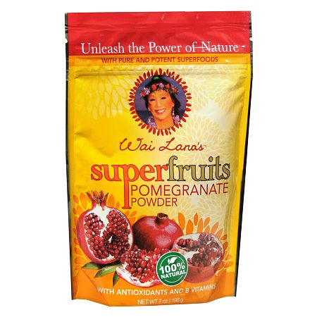 Wai Lana Super Fruits Powder Dietary Supplement Pomegranate - 7 oz.