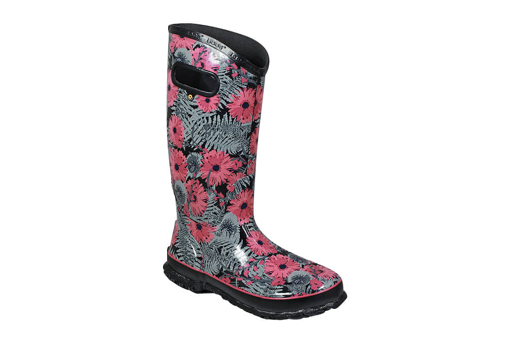 BOGS Living Garden Rain Boots - Women's - black multi, 9
