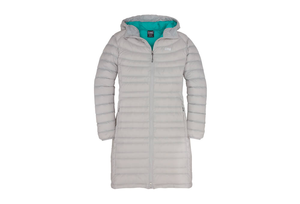 CIRQ Shasta Down Hooded Parka - Women's - silver, medium