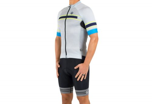 Canari Cabrillo Jersey - Men's - geohex/vintage grey, small
