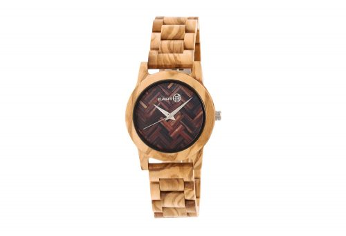 Earth Wood Crown Watch - khaki & tan wood, one size