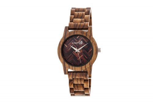 Earth Wood Crown Watch - olive wood, one size