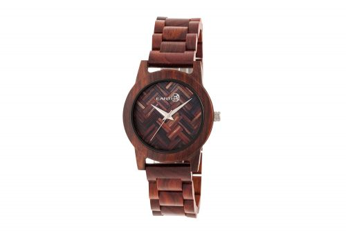 Earth Wood Crown Watch - red wood, one size
