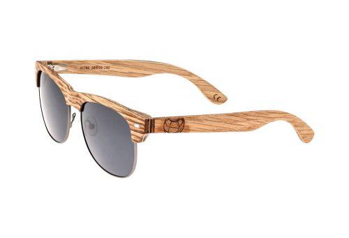 Earth Wood Moonstone Polarized Sunglasses - bamboo/ebony/black, one size
