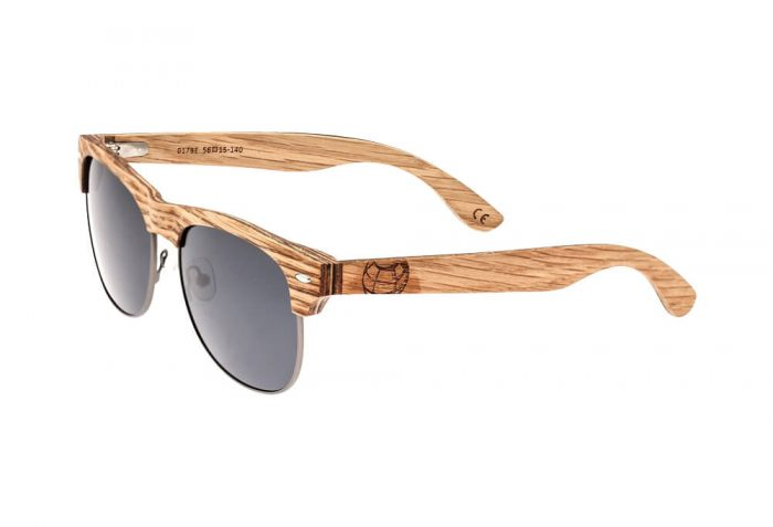 Earth Wood Moonstone Polarized Sunglasses - bamboo/ebony/black, one size