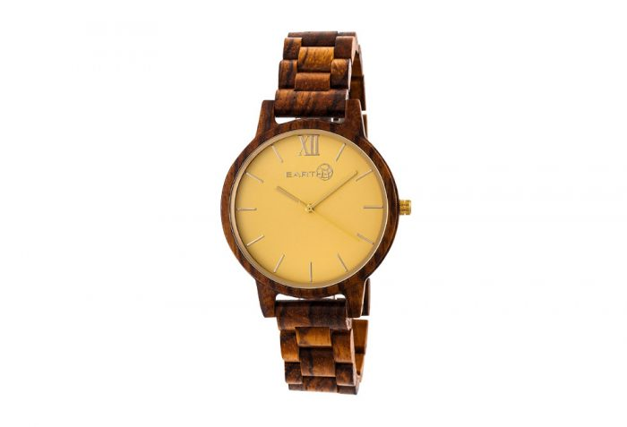 Earth Wood Pike Watch - olive wood, one size