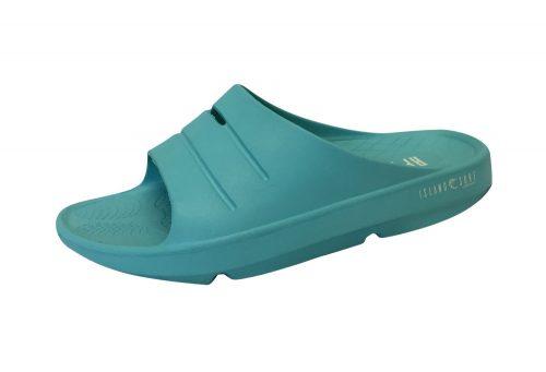 Island Surf Company Crest Slides - Women's - teal, 10