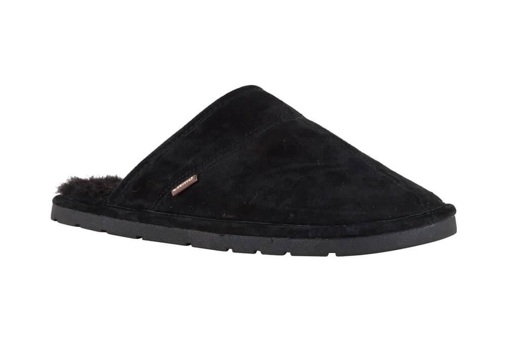 LAMO Premium Suede Scuff - Men's - black, large