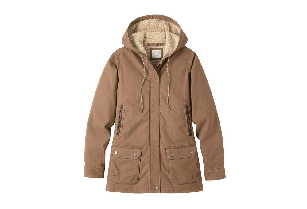Mountain Khakis Ranch Shearling Hooded Coat - Women's - tobacco, medium