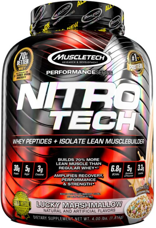 MuscleTech Nitro-Tech - 4lbs Lucky Marshmallow