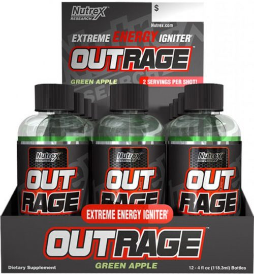 Nutrex Outrage Energy Shots - 1 Shot Blue Raspberry